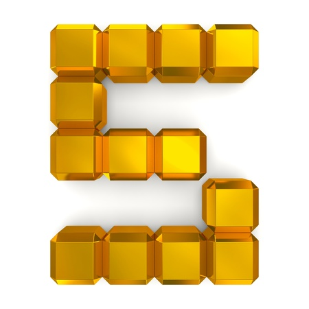 number 5 cubic golden