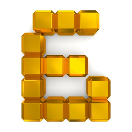 number 6 cubic golden