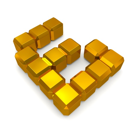 number 6 cubic golden photo