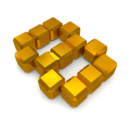 number 8 cubic golden photo