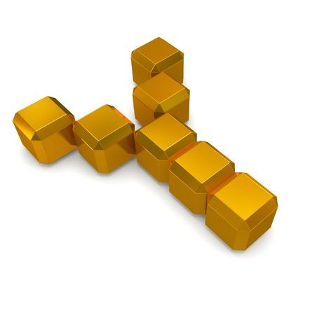 letter Y cubic golden photo