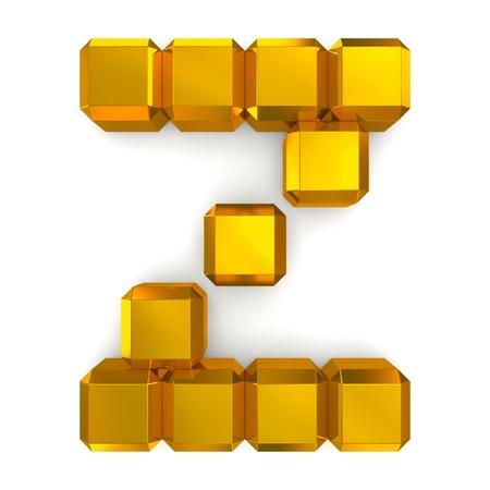 letter Z cubic golden photo