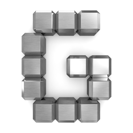 letter G cubic metal Stock Photo - 21560975