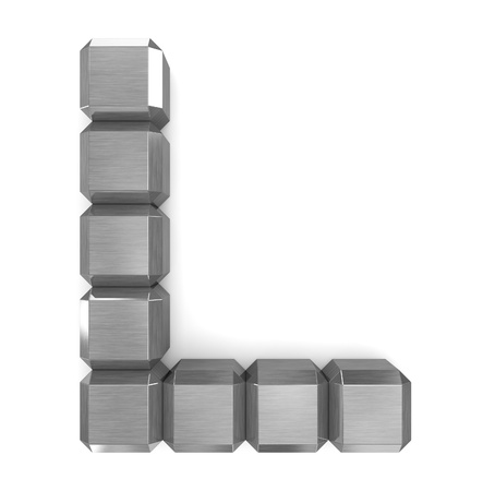 letter L cubic metal Stock Photo - 21561311