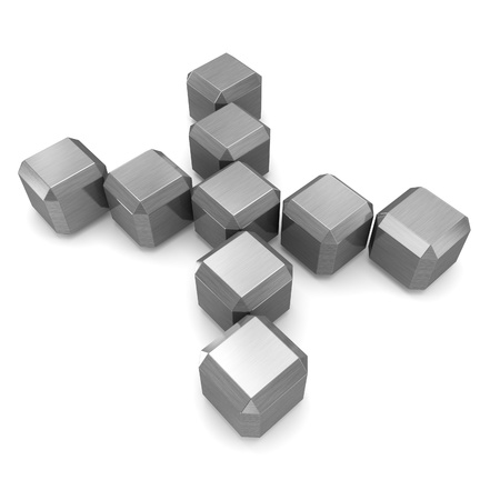 letter X cubic metal Stock Photo - 21561361