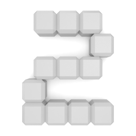 number 2 cubic white photo