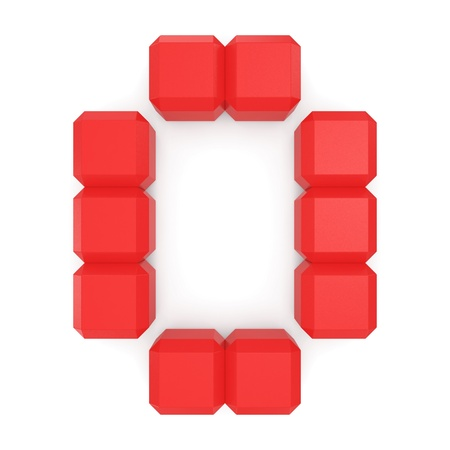 number 0 cubic red photo