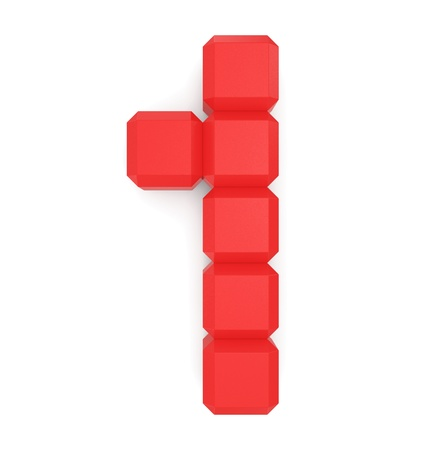 number 1 cubic red photo