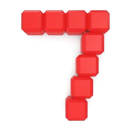 number 7 cubic red photo