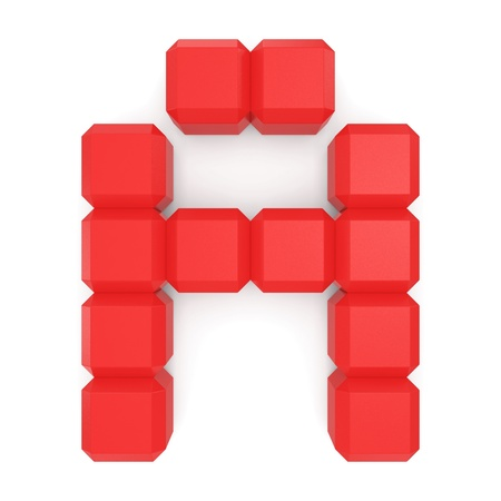 letter A cubic red photo