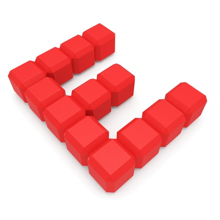 letter E cubic red photo