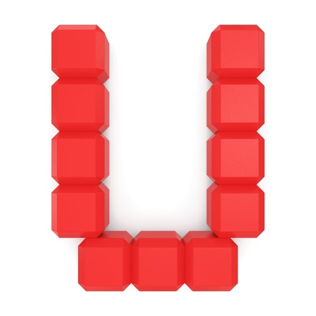 letter U cubic red photo