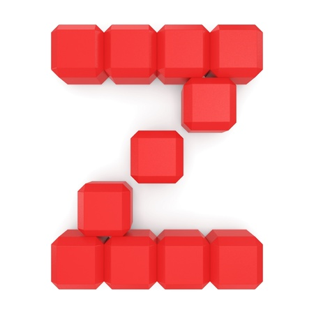 letter Z cubic red photo
