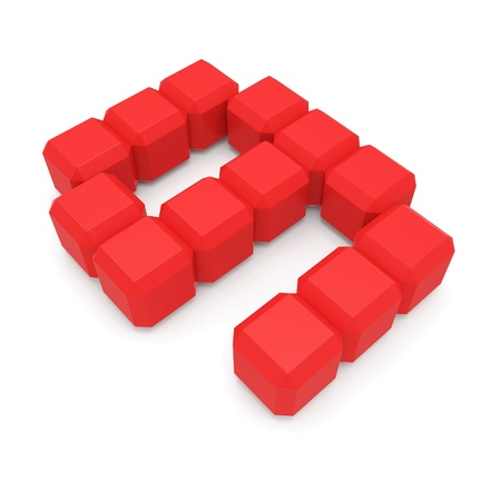 number 9 cubic red photo