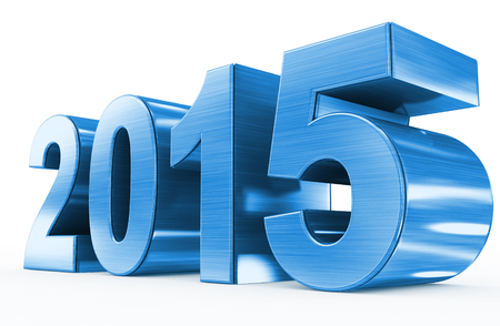 year 2015 blue metal 版權商用圖片 - 30440428