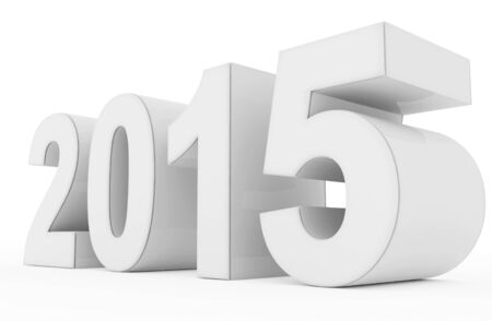 year 2015 white Stock Photo
