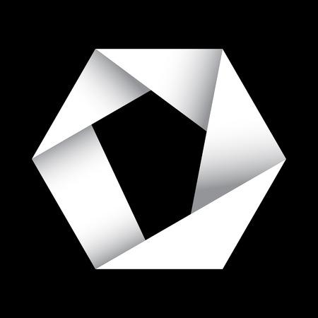 hexagonal: origami hexagonal vector