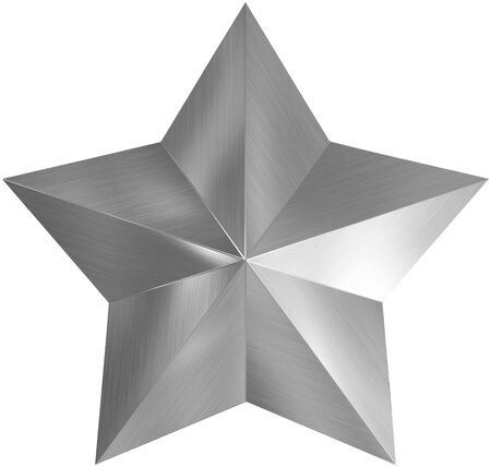 Christmas Star metal 3d isolated on white Stock Photo
