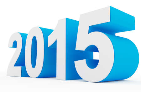 year 2015 white-blue Stock Photo