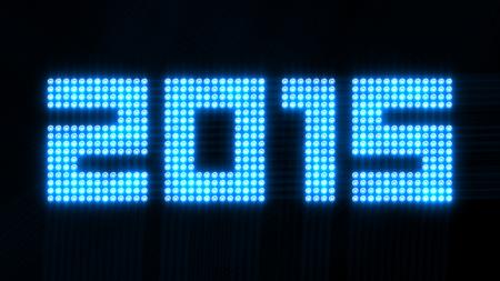 flickering: year 2015 - quadratic array of flickering lights