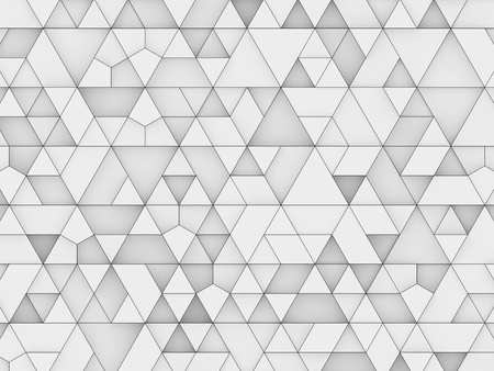 equilateral triangles - white abstract background outlined - 3d rendering Imagens