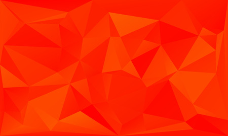 fiery: triangles abstract background - fiery orange - vector illustration