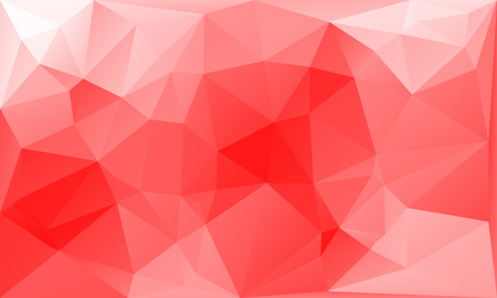scattering: triangles abstract background - red white - vector illustration