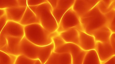불 같은 추상 파도 배경 - 부드러운 모양 표면 - 중앙 컴포지션