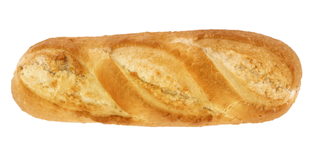 bread isolated on white - top view - 3d rendering