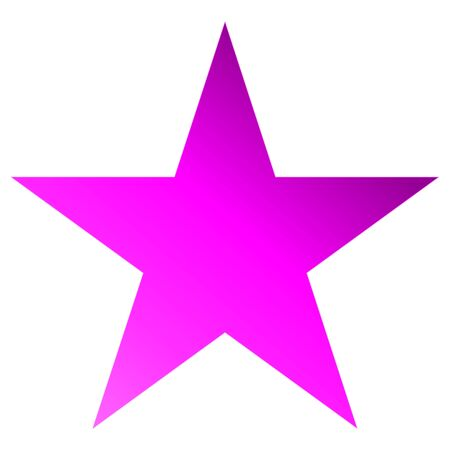 Christmas star purple - simple 5 point star - isolated on white - vector illustration