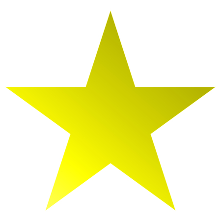 Christmas star yellow - simple 5 point star - isolated on white - vector illustration Illustration