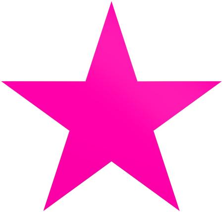 Purpere Kerstmisster - eenvoudige ster met 5 die punt - op wit wordt geïsoleerd - het 3d teruggeven