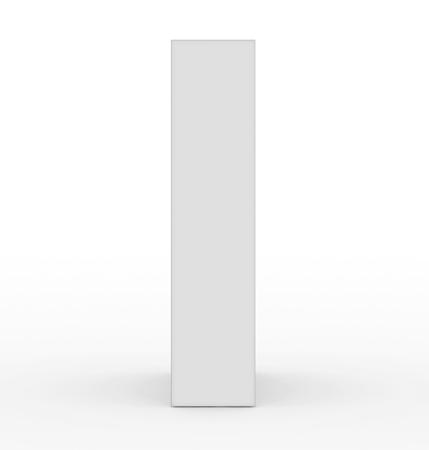 letter I 3d white isolated on white - 3d rendering