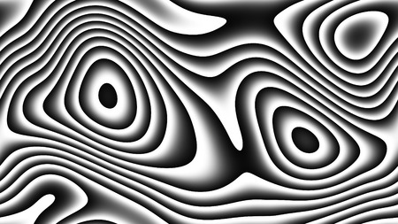 Abstract curves - parametric curved lines and shapes 4k seamless background - illustration