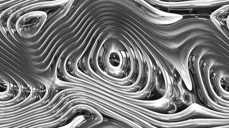 Abstract curves - metal parametric curved shapes 4k seamless background - 3d rendering