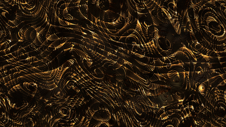 Abstract curves - golden parametric curved lines and shapes 8k seamless background - illustration