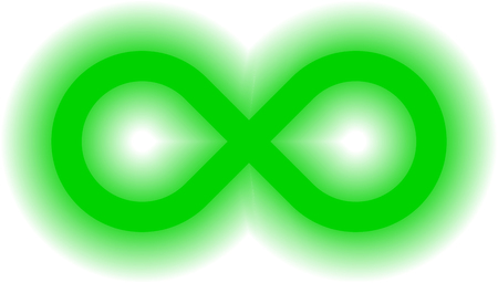infinity symbol green - simple glow with transparency eps 10 - isolated - vector illustration Illustration