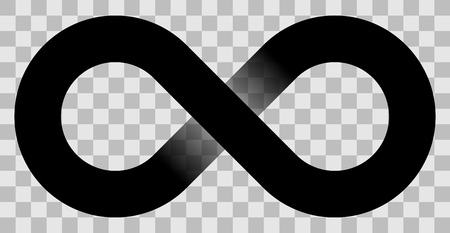 infinity symbol black - simple with transparency eps 10 - isolated - vector illustration
