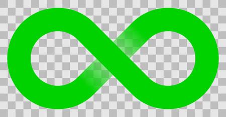 infinity symbol green - simple with transparency eps 10 - isolated - vector illustration