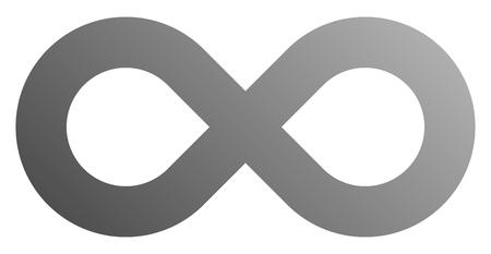 infinity symbol gray - gradient standard - isolated - vector illustration Ilustração