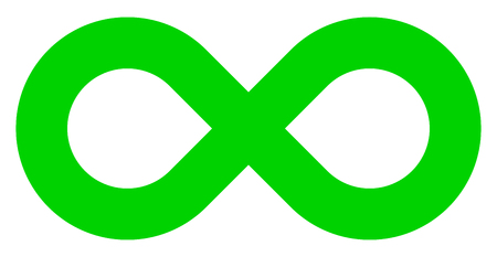infinity symbol green - simple standard - isolated - vector illustration
