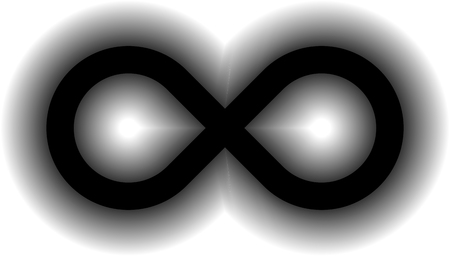 infinity symbol black - simple glow with transparency eps 10 - isolated - vector illustration