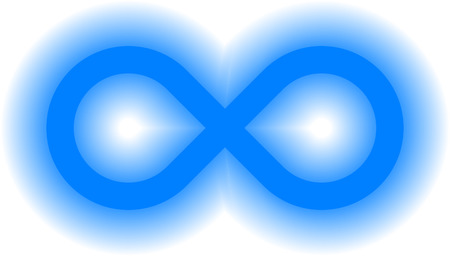 infinity symbol blue - simple glow with transparency eps 10 - isolated - vector illustration