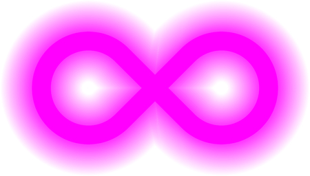 infinity symbol purple - simple glow with transparency eps 10 - isolated - vector illustration Illustration