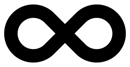 infinity symbol black - simple standard - isolated - vector illustration Illustration