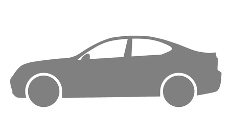 Car symbol icon - medium gray, 2d, isolated - vector illustration  イラスト・ベクター素材