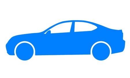Car symbol icon - blue, 2d, isolated - vector illustration 版權商用圖片 - 127722052