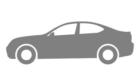 Car symbol icon - medium gray, 2d, isolated - vector illustration Illustration