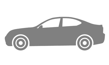 Car symbol icon - medium gray, 2d, isolated - vector illustration Ilustração