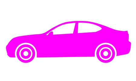 Car symbol icon - purple, 2d, isolated - vector illustration Illustration